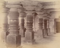 Interior of mandapa of the Kaitabheshvara Temple, Annavatti